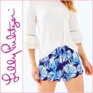 NEW Lilly Pulitzer Adelia Scuba Short In Reel Life